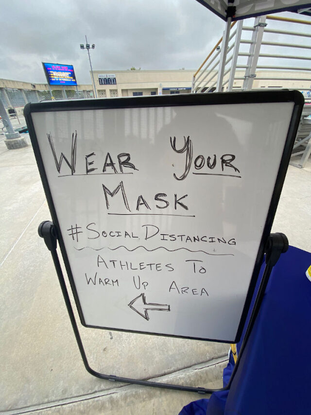 Tips for getting back into the pool - Wear your mask